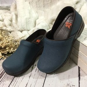 Dansko professional knit nubuck denim pro XP clogs